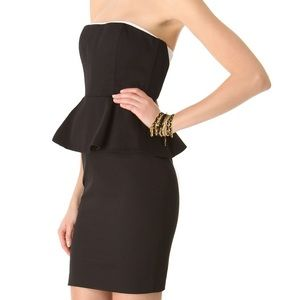 Alice + Olivia peplum strapless dress